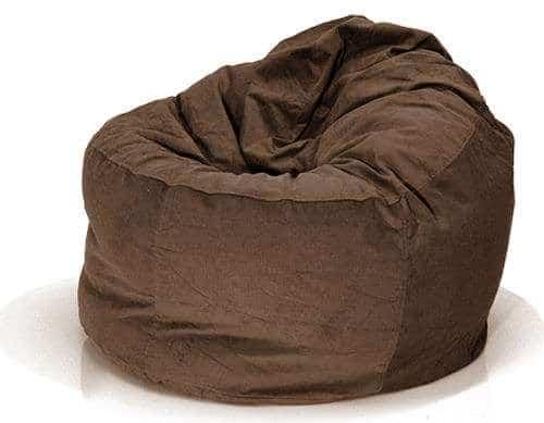 Ghế lười hình trụ màu nâu