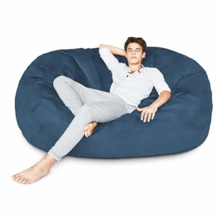 Ghế lười hình trụ tròn xanh dương
