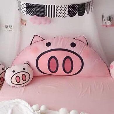 Gối tựa đầu giường hình heo con