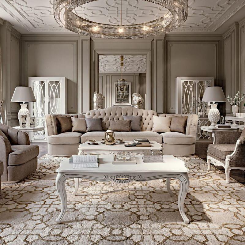 Thiết kế và trang trí nội thất phòng khách sang trọng cổ điển